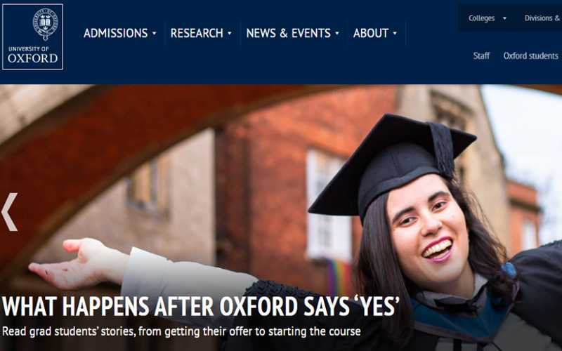 Top 10 Drupal Websites in Europe: Oxford University