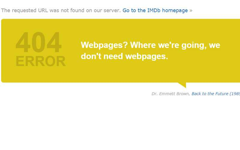 Example of a Cleverly Designed 404 Error Page