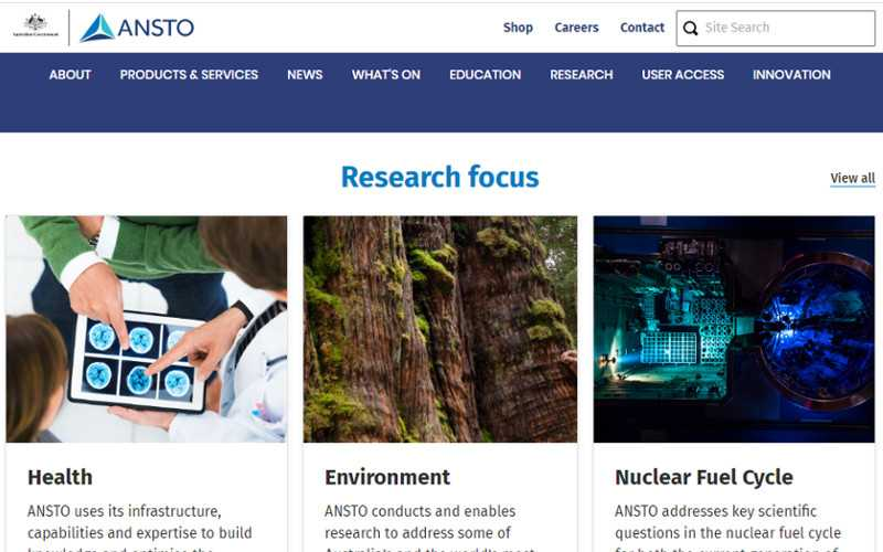 Top 10 Drupal Websites in Australia- Australian Nuclear Science and Technology Organisation