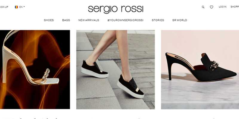 10 Most Popular Online Stores Running on Magento: Sergio Rossi