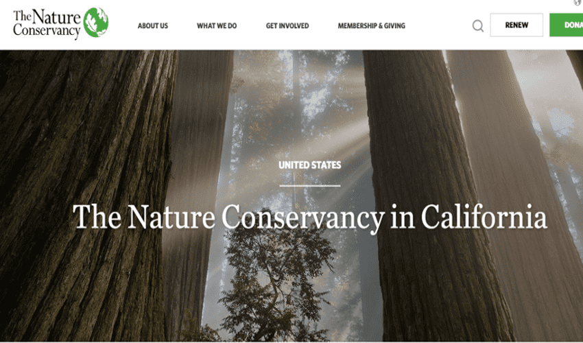 10 Most Popular Websites Built on Drupal in North America- Nature Conservancy California