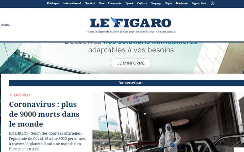 Top 10 Drupal Websites in Europe: Le Figaro