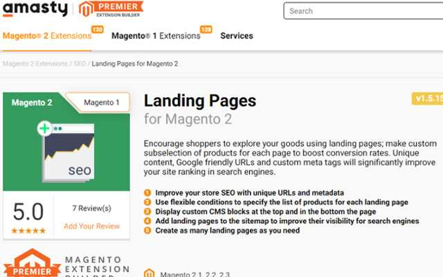 Best Magento 2 Page Builder: Landing Pages for Magento 2, from Amasty