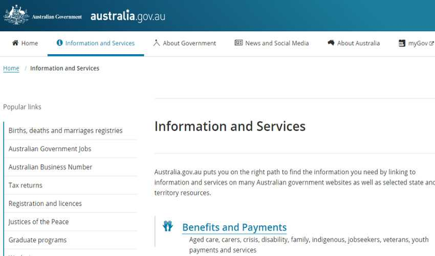 Top 10 Drupal Websites in Australia- The Australian Government
