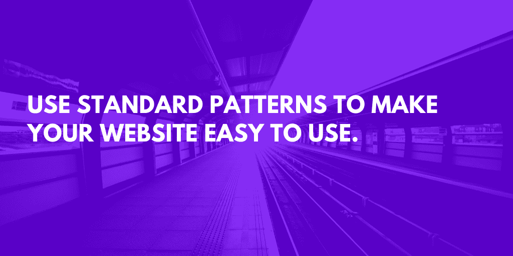 10 Ways to Simplify Design: Use Standard Navigation
