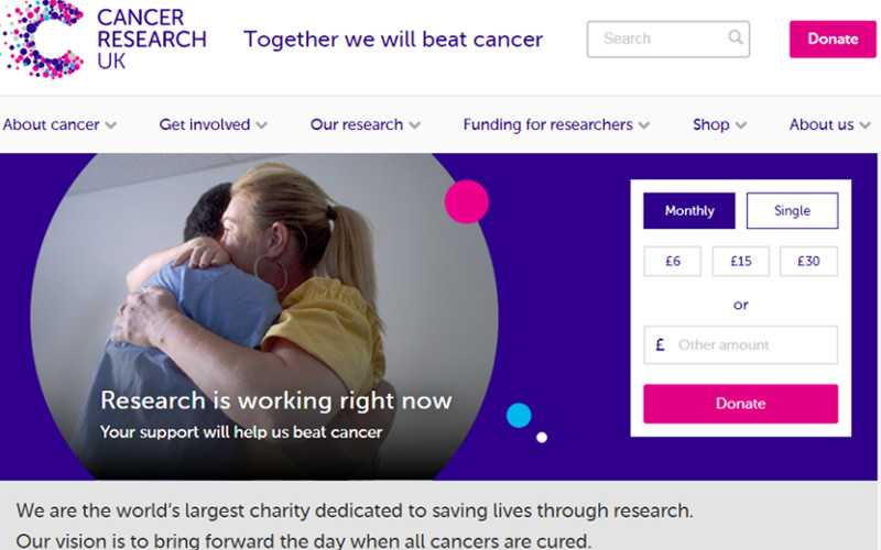 Top 10 Drupal Websites in Europe: Cancer Research UK