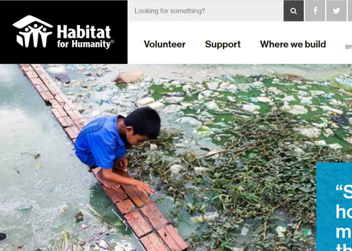 Top 10 Nonprofit Websites Built with Drupal: Habitat for Humanity International