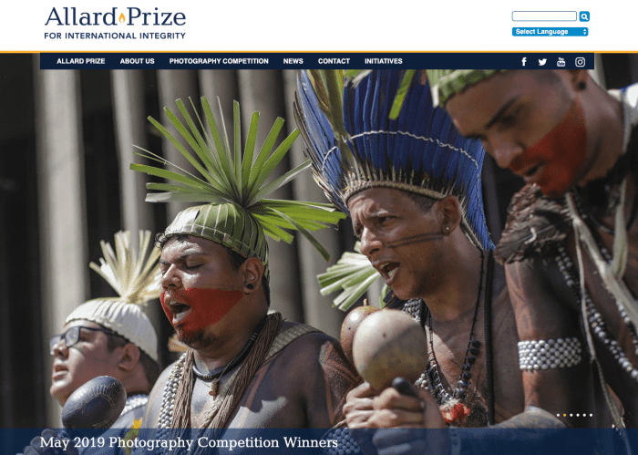 Top 10 Nonprofit Websites Built with Drupal: The Allard Prize for International Integrity