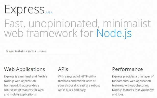 The 5 Best Node.js Frameworks in 2019: Express.js