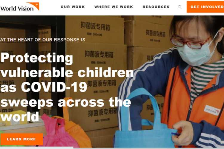 Top 10 Nonprofit Websites Built with Drupal: World Vision International