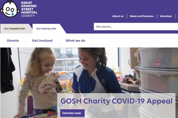 Top 10 Nonprofit Websites Built with Drupal: Great Ormond Street Hospital Children's Charity