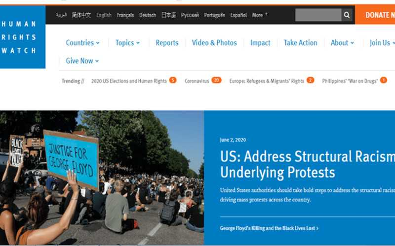 Top 10 Nonprofit Websites Built with Drupal: Human Rights Watch
