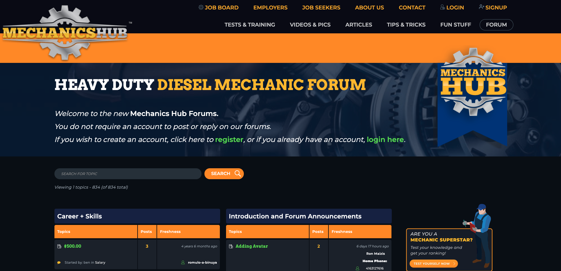 Mechanics Forum