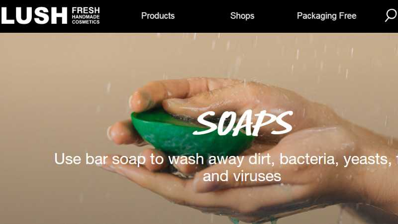 Top 10 Drupal Websites in Europe: Lush Cosmetics