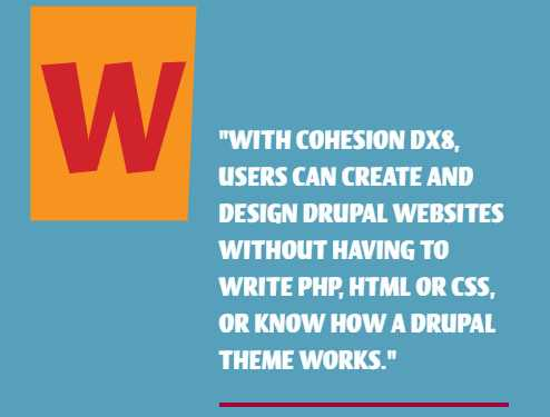 Which Drupal Page Builder to Use? Cohesion DX8- building Drupal websites with no coding skills needed