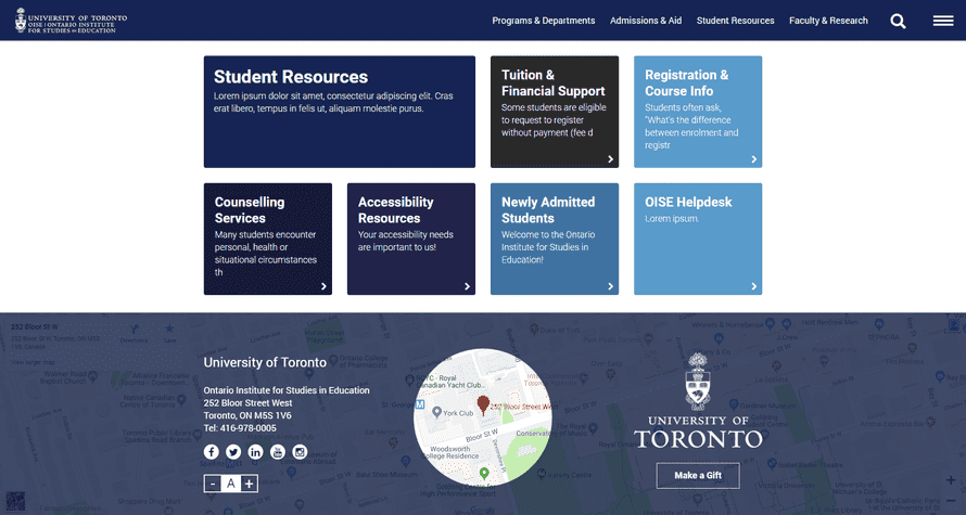 Top 10 Drupal Websites in North America: Ontario Institute for Studies in Education of the University of Toronto