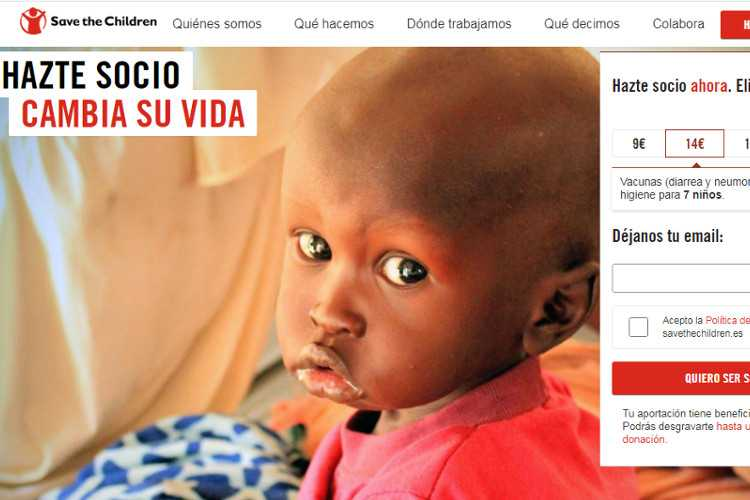 Top 10 Nonprofit Websites Built with Drupal: Save the Children Spain