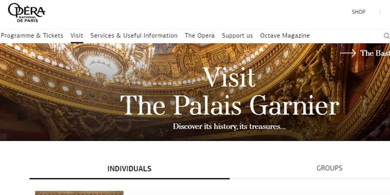Top 10 Drupal Websites in Europe: The Paris Opera